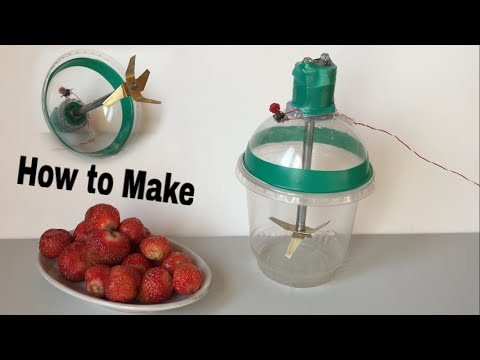 How to Make an Electric Blender using Plastic Cup