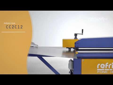 Máquina Refriweb - CC2C12 - Corte Slitter Rolo Continuo e Friso