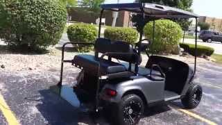 2. 2011 TXT 48 Volt EZGO Golf Cart, NEW Charcoal Gray Metallic OEM Body, Black Top & Seats