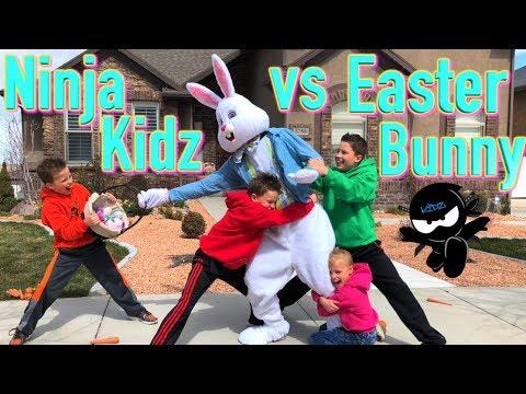 Ninja Kidz catch The Easter Bunny!