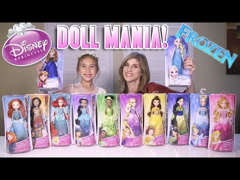 Frozen Elsa & Anna + More! | NEW 2016 Disney Princess Royal Shimmer Dolls from Hasbro | Unboxing Day