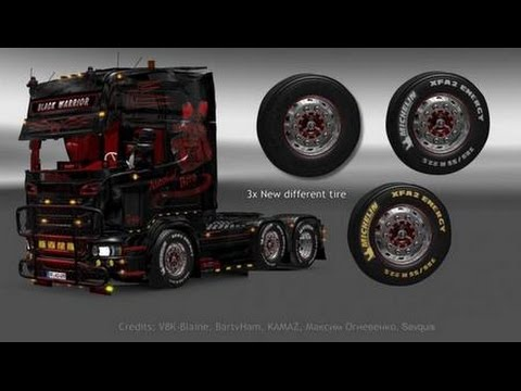 V8K Scania Michelin Wheels for 1.22+