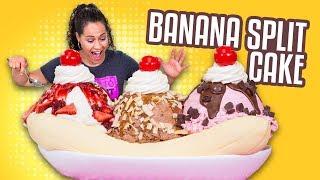 Video Banana Split CAKE!! | YO'S BIRTHDAY SPECIAL | How To Cake It MP3, 3GP, MP4, WEBM, AVI, FLV September 2018