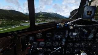 A cold & dark startup and departure from OrbX' FTX LOWI Innsbruck Airport with Manfred Jahn's stunning DC-3 / C-47 in the ...