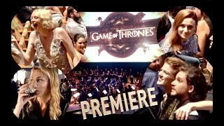From the GOTS7 premiere last night in Los Angeles with Kit Harington, Gwendoline Christie and Sophie Turner. There was a live...