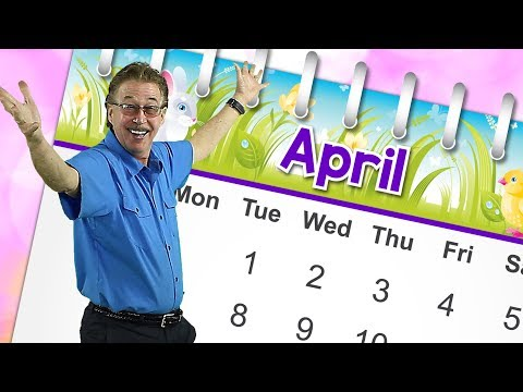 April | Calendar Song for Kids | Month of the Year Song | Jack Hartmann
