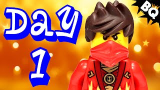 Custom LEGO Ninjago Advent Calendar 2014 Day 1 Unboxing