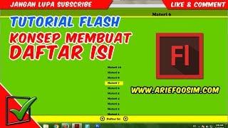 Tutorial Flash: Membuat daftar isi (link melompat ke halaman lain)