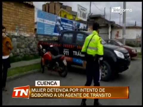 Mujer detenida por intento de soborno a un agente de tránsito