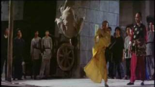 Directed and choreographed by Sammo Hung and his team. One of the best traditional fight scenes ever made. Lam's (Leung Yee...