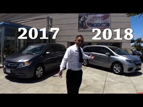 2017 vs 2018 Honda Odyssey Comparison🚘🚐👪👫