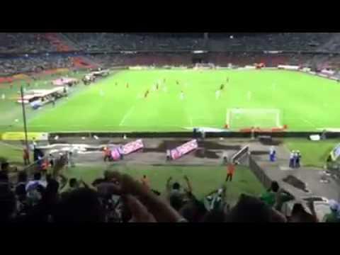 Atl.Nacional 4 Uniautonoma 0 - Los del Sur - Atlético Nacional