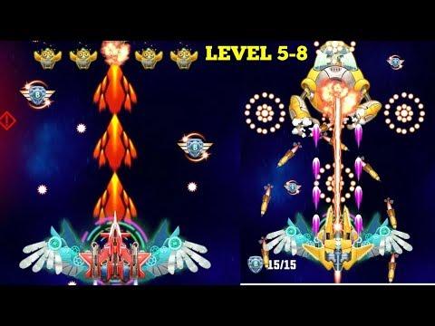 Strike Galaxy Attack: Alien Space Chicken Shooter Gameplay Level 5-8