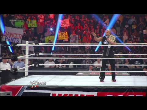 CM Punk hits the GTS on The Rock and takes the WWE Championship: Raw, Feb. 11, 2013