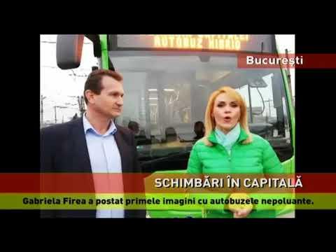 Gabriela Firea a postat primele imagini cu autobuzele nepoluante