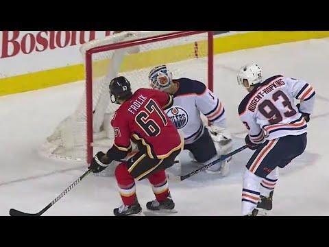 Video: Flames' Frolik burns Oilers shorthanded