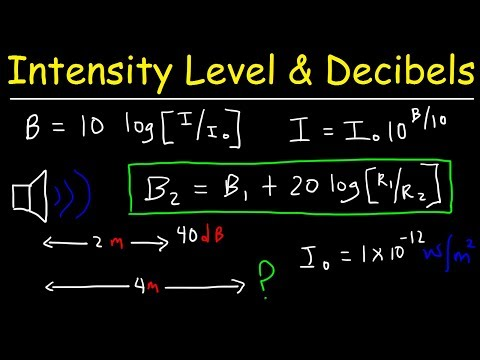 Sound Intensity Level in Decibels & Distance - Physics Problems