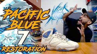 Video Jordan 7 Pacific Blue Restoration + How to Match Midsole Paint MP3, 3GP, MP4, WEBM, AVI, FLV Maret 2019