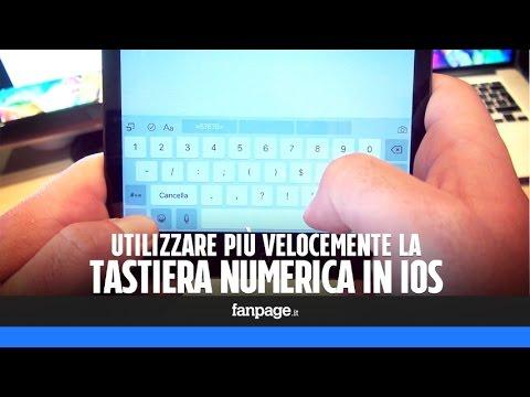 Utilizzare più velocemente la tastiera numerica iOS