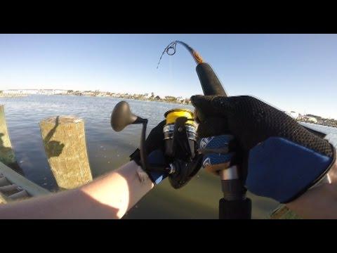 Big fish tears my gear up - Surf fishing Chincoteague Island - the one that got away._Horg�szat vide�k