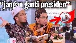 Video jangan ganti presiden... (BUKAN KLIKBAIT) - Ustadz Adi Hidayat LC MA MP3, 3GP, MP4, WEBM, AVI, FLV April 2019