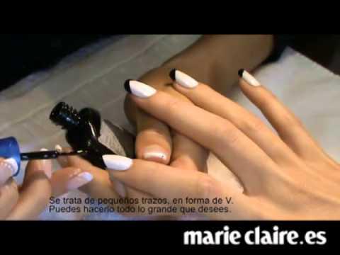 Manicura paso a paso: nail art smoking