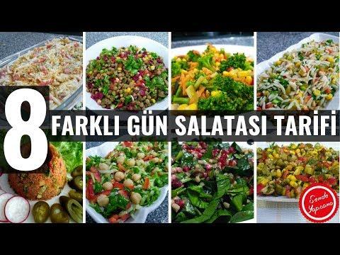 8 Farklı Gün Salatası Tarifleri ve Çeşitleri #salata