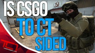 """IS CS:GO CT SIDED??? Today we discuss valves game counter-strike:global offensive and whether or not the game is ct sided. What do you think of csgo, is the game to ct sided let me know down in the comments below.Best Place to buy cheap csgo skins is   https://www.rpgah.com/, Use code""""JOB""""get a 3% discount!★ Patreon - https://goo.gl/cZcV7R★ 2nd Channel - https://goo.gl/RyvCmn★Snacphat - TheChosen1inc★Instagram - https://goo.gl/cv1hvL★Twitch - http://goo.gl/kRBgH2★Twitter - https://goo.gl/xUmcOE★Steam Group - http://goo.gl/Radyih (Join For Updates)★Intro Song - https://goo.gl/L8qshP★Outro Song - https://goo.gl/sPD2Q1★Config - http://goo.gl/vCXbiKThechosen1inc is a cs go channel focused on talking about everything cs go. The focus is bringing you the latest cs go news and also opinions on the latest things going on in the counter strike global offensive community. Feel free to subscribe if your interested in counter strike global offensive content and the opinions of an angry man.Johnny BumbleFuck Is Always Watching ༼◕_◕༽Contact Email - Schonewise@gmail.com"""