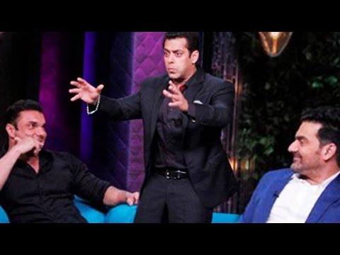 Salman Khan, Sohail Khan, Arbaaz Khan on Koffee Wi
