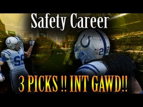 Madden NFL 2018 Safety Career - 3 picks!!! INT GAWD!!!