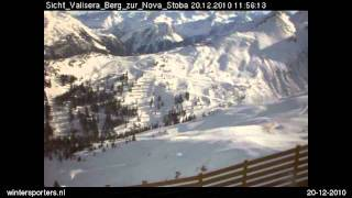 Montafon Silvretta Nova webcam time lapse 2010-2011