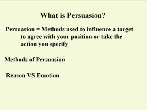 ENG 352 Technical Writing - 28 Persuasion