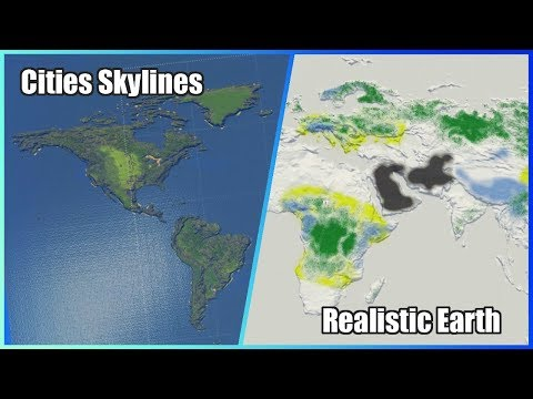 Cities Skylines REALISTIC EARTH MAP [Vanilla Compatible]