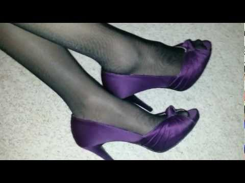 Seamed pantyhose and high heels