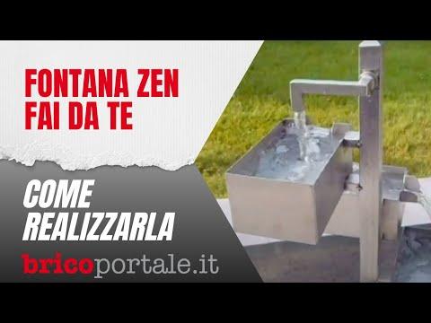 Fontana zen fai da te in acciaio inox per giardino