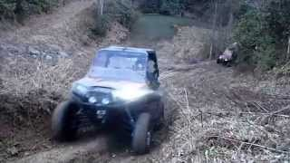 3. Polaris RZR XP 900 800 S West Va Trail Riding snow creeks mud
