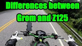 7. Z125 and Grom Comparisons.
