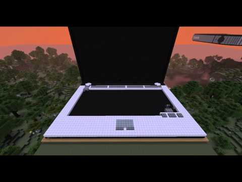 Laptop Minecraft Build Time Lapse
