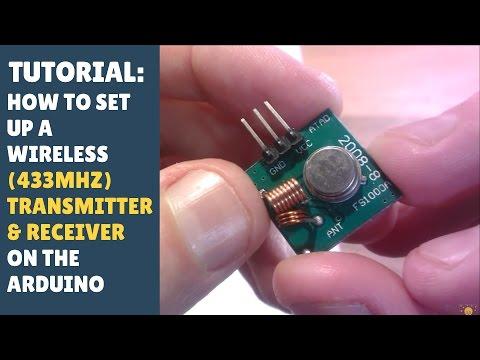 TUTORIAL: How to set up wireless RF (433Mhz) Transmitter & Receiver Module - Arduino! (RadioHead)