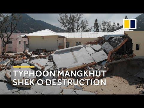Drone footage: Typhoon Mangkhut Shek O, Hong Kong destruction