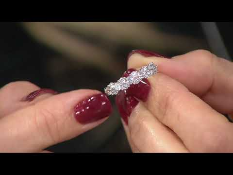 98 Facet Diamond Band Ring, 1.00 cttw, 14K by Affinity on QVC
