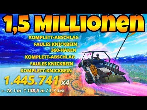 Fortnite: Der 1.500.000,00 MILLIONEN Punkte Stunt!