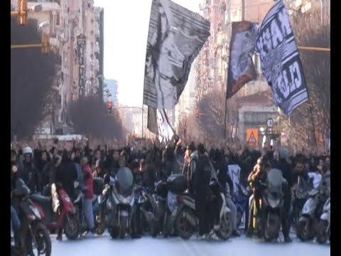 Πορεία των οπαδών του ΠΑΟΚ στη Θεσσαλονίκη
