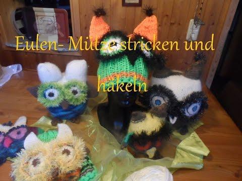 keka # Eulen – Mütze stricken und häkeln , selber machen- 1/2