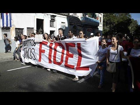 Κοσμοσυρροή στην Αβάνα για το «ύστατο χαίρε» στον Φιντέλ