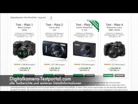 Digitalkamera Test - unsere aktuellen Top 3 im großen Digitalkamera Vergleich