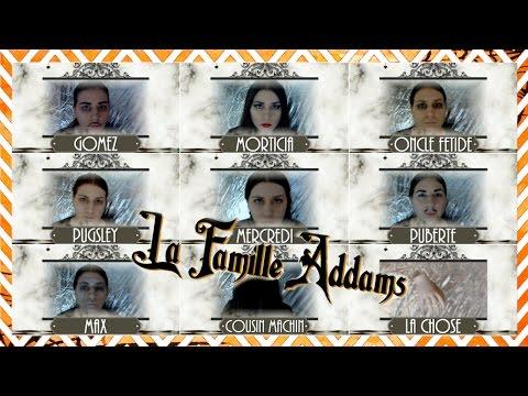 Halloween   Maquillages simples et rapides de La Famille Addams