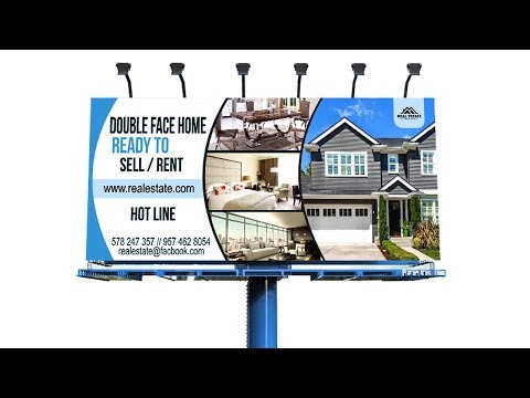 How To Make Real Estate Billboard Banner Design |In Corel Draw X7 Tutorial