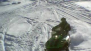 8. Jumping My 1999 Arctic Cat Z370 off my pond