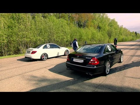 Mercedes E55 AMG vs Mercedes C63 AMG; Jeep SRT-8 vs BMW X6M; Audi RS6 vs BMW M3 ESS